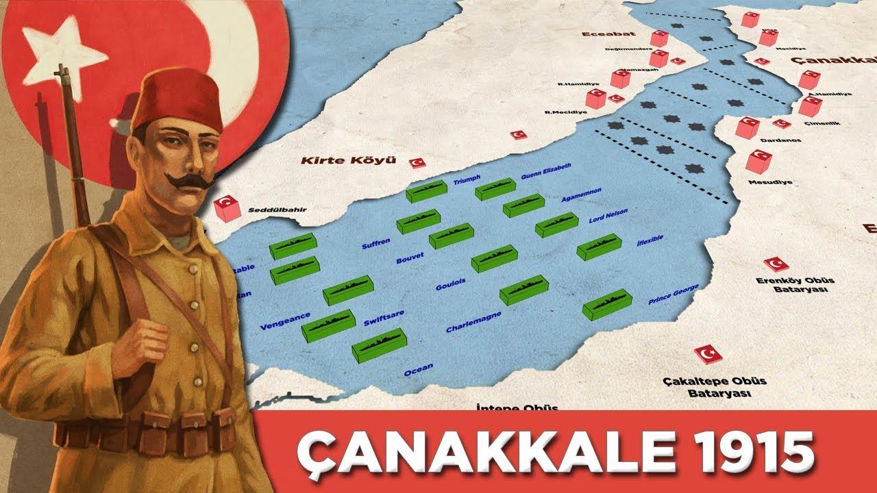 Osmanlı'nın Son Direnişi: ÇANAKKALE SAVAŞI 1915 (18 Mart Deniz Zaferi) || 3D VERSİYON