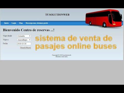Sistema De Venta De Pasajes Online Buses  (sistema Completo En Php Y Mysql)