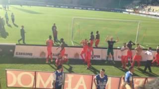 ALANYASPOR-GAZİANTEP maç sonu taraftarla kutlama