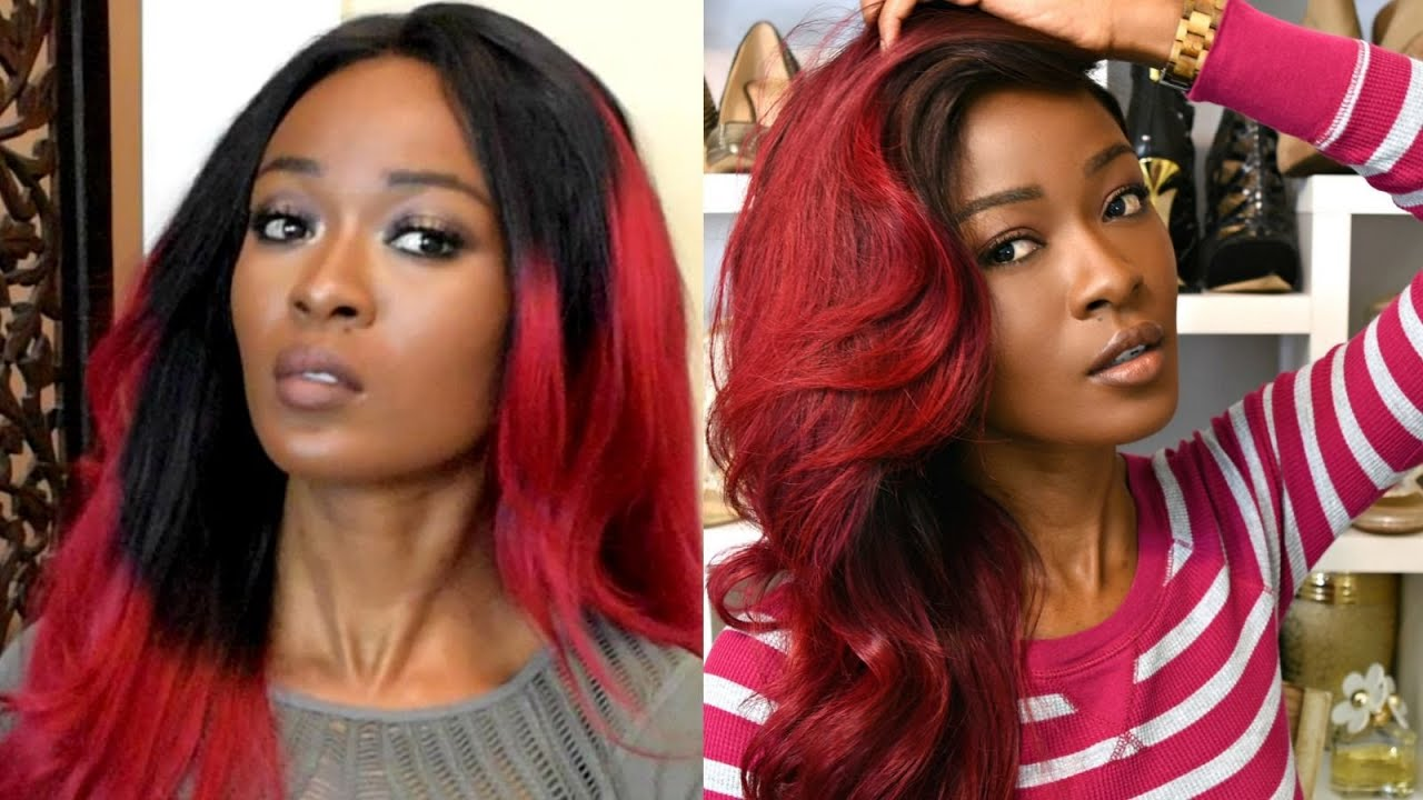 gorgeous burgundy ombre fixing