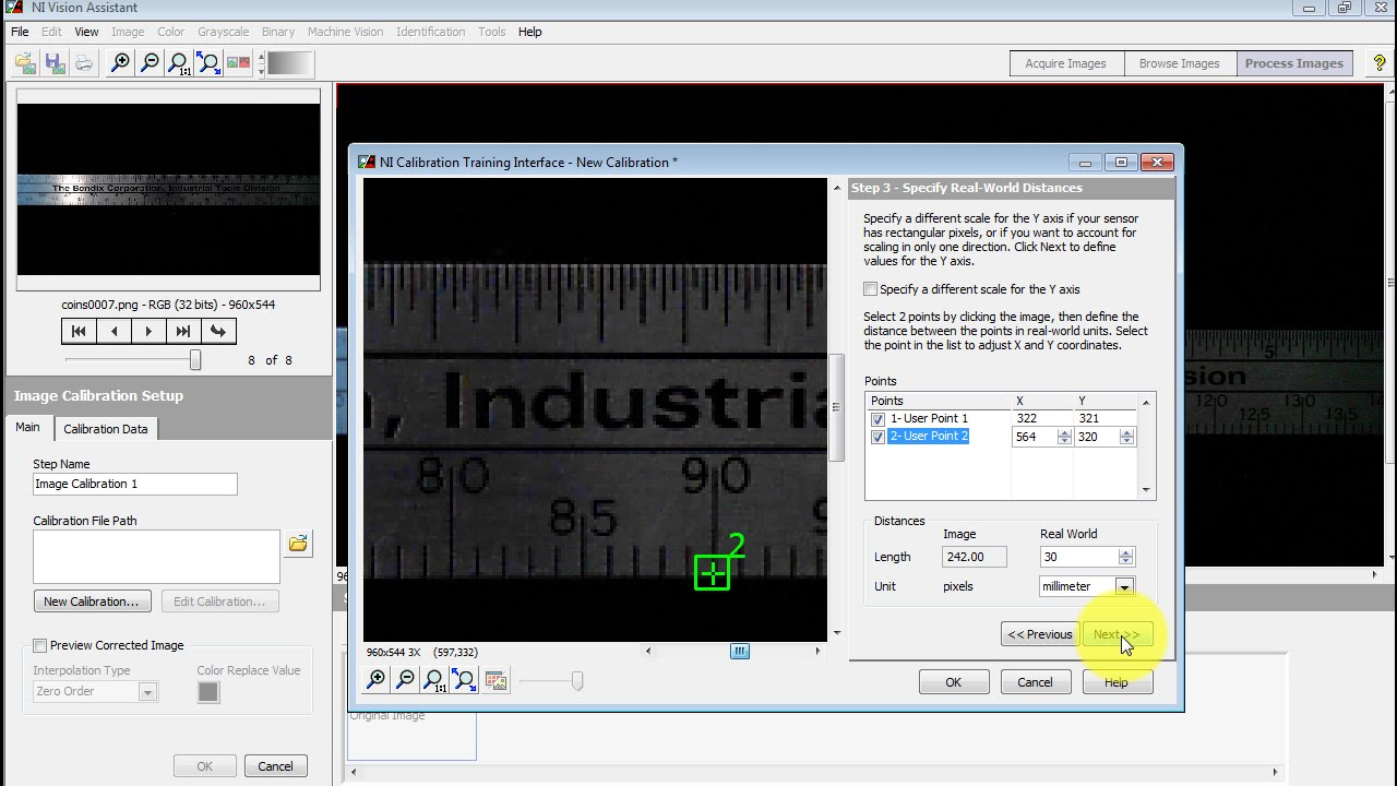 Ni vision step 2 calibrate the camera youtube for Find a builder