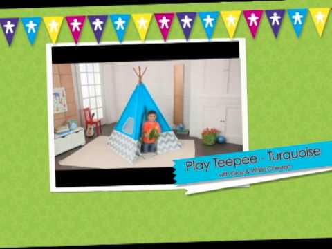 00223 kidkraft kinderzelt spiel tipi t rkis beim holzspielzeug profi youtube. Black Bedroom Furniture Sets. Home Design Ideas