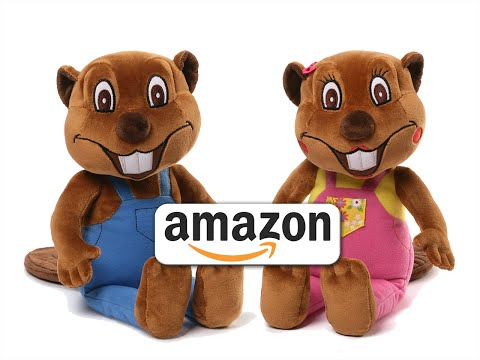 Busy Beavers From Amazon | Buy Billy & Betty Beaver Plush Toy Animals, Kids Stuffed Toys