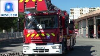 Véhicules d'urgence pompiers SDIS 34 CIS Montpellier-La Paillade