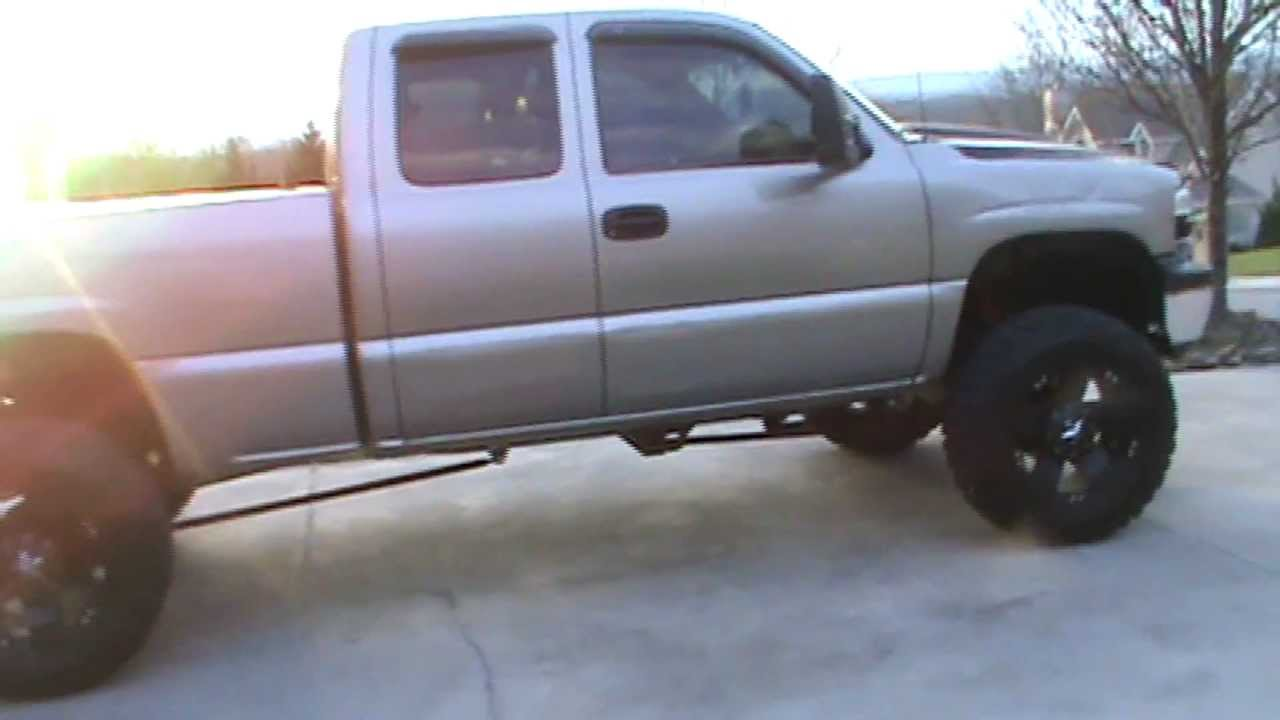 All Chevy 2002 chevy 1500 lifted : Lifted silverado on 35's - YouTube
