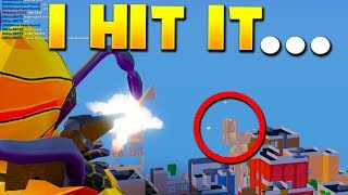 hitting trickshots WHILE ROCKET RIDING in roblox strucid (Update)