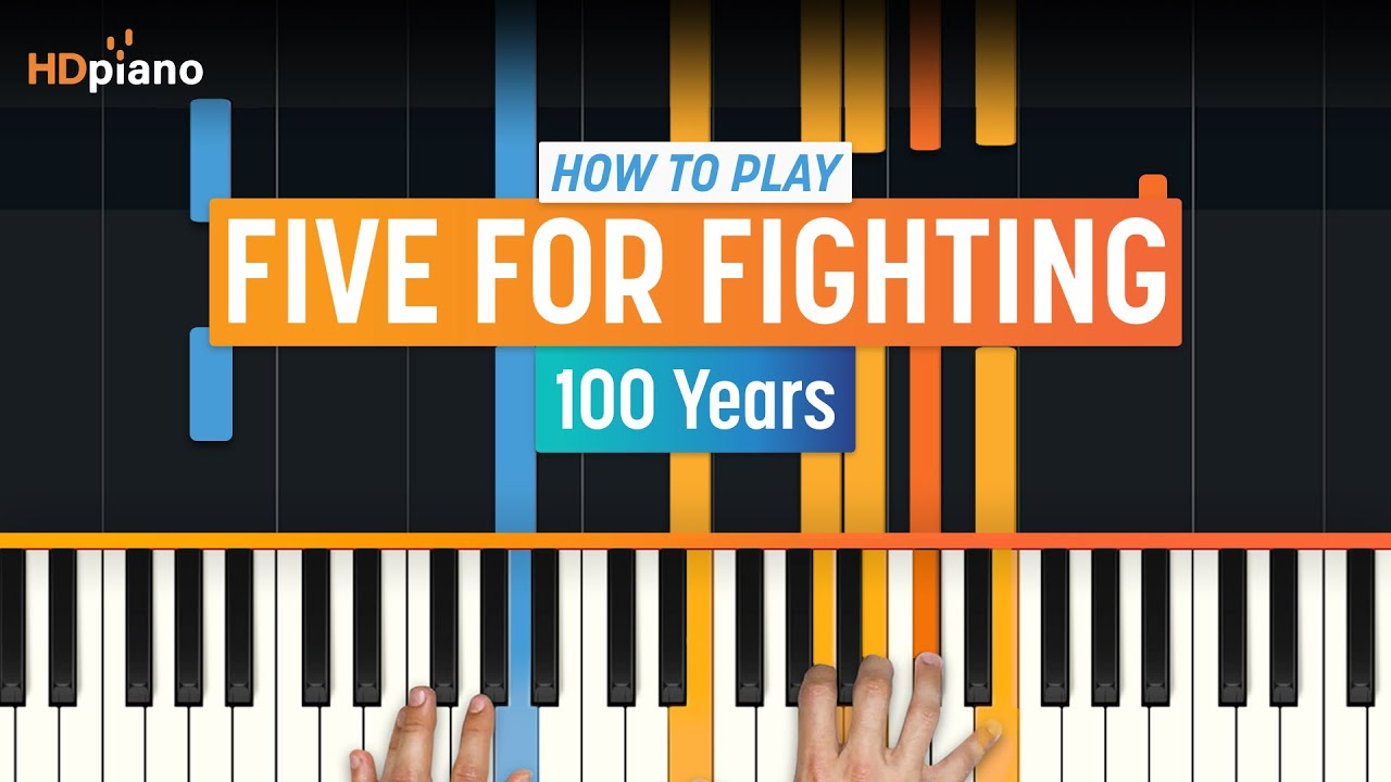 How to play 100 years by five for fighting on piano with how to play 100 years by five for fighting on piano with synthesia hd piano part 1 youtube hexwebz Choice Image