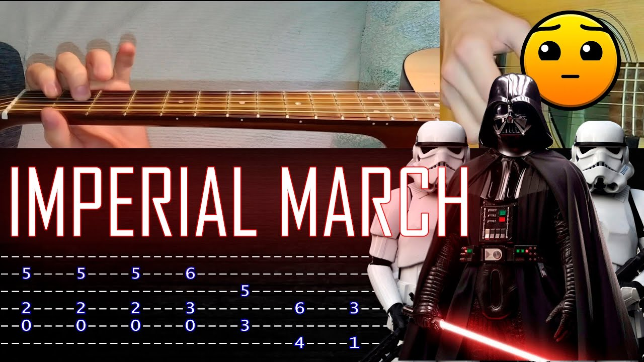How to play 'Imperial March' Guitar Tutorial [TABS] Fingerstyle