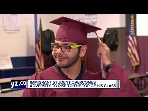 Immigrant student overcomes adversity to rise to the top of his class