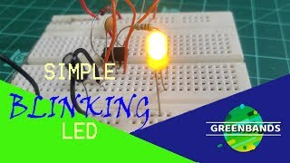 How to make Blinking led circuit or Astable multivibrator