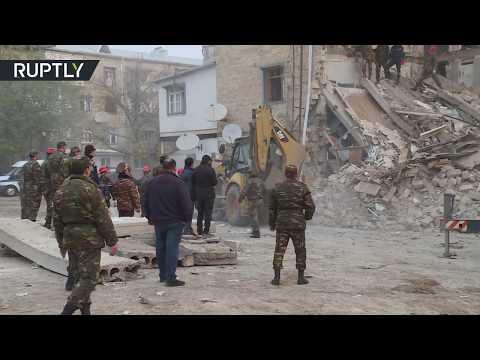 Gas explosion in apartment building kills 3 in Azerbaijan