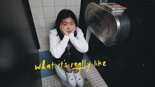 Eating lunch in my high school bathroom stall...