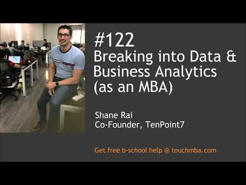 Breaking into Data and Business Analytics (as an MBA)