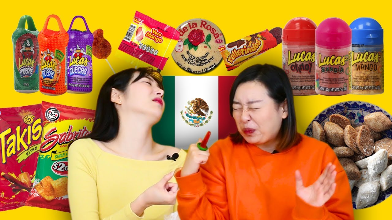 Koreans in their 30s try Mexican Snacks (Candies, Chips, and Cookies)