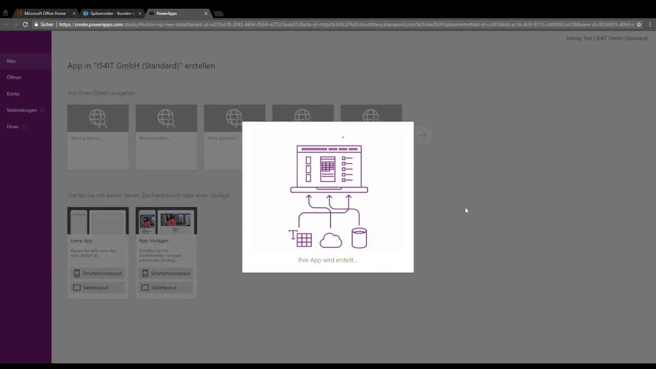 Microsoft PowerApps App aus Sharepoint Liste - YouTube