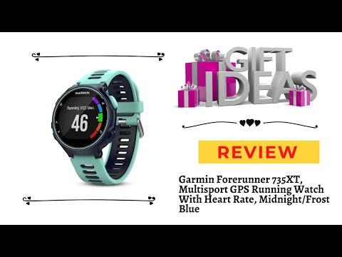 Garmin Forerunner 735XT, Multisport GPS Running Watch With Heart Rate, Midnight Frost Blue