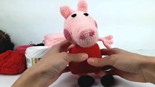 Свинка Пеппа крючком, мастер класс (Видео урок 1. Голова)