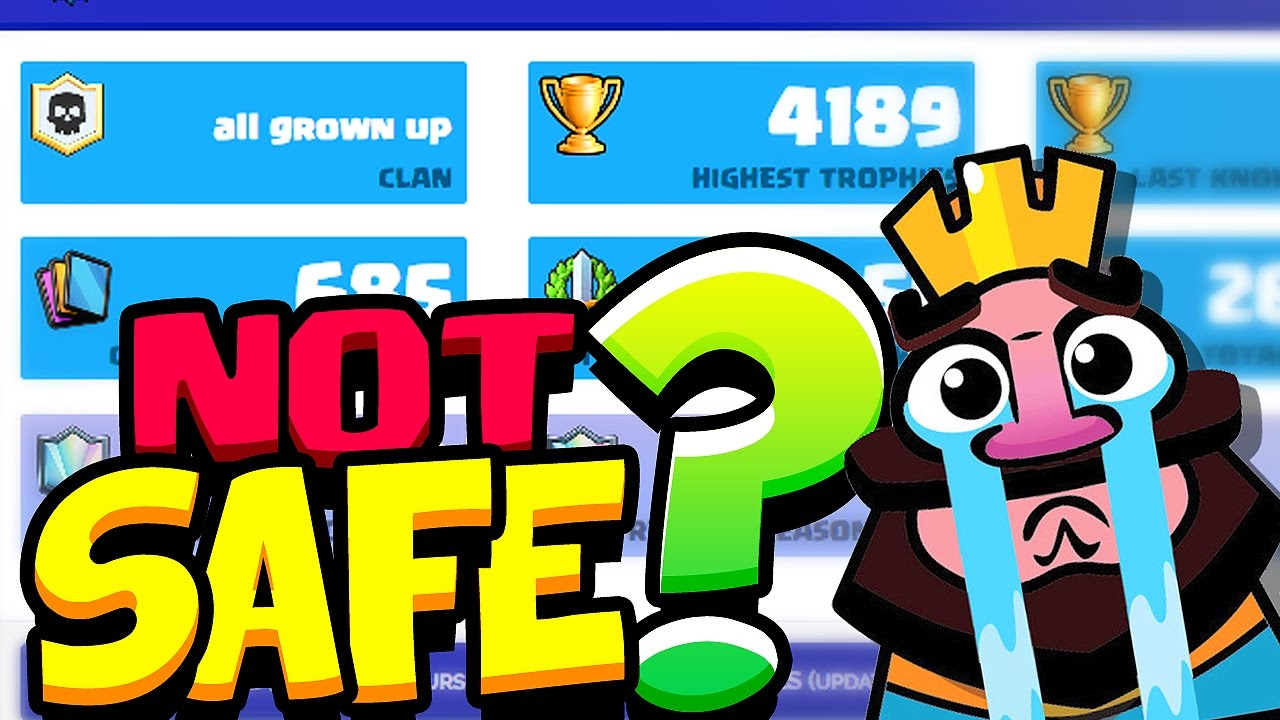Stats Royale NOT SAFE? For Clash Royale Players - YouTube