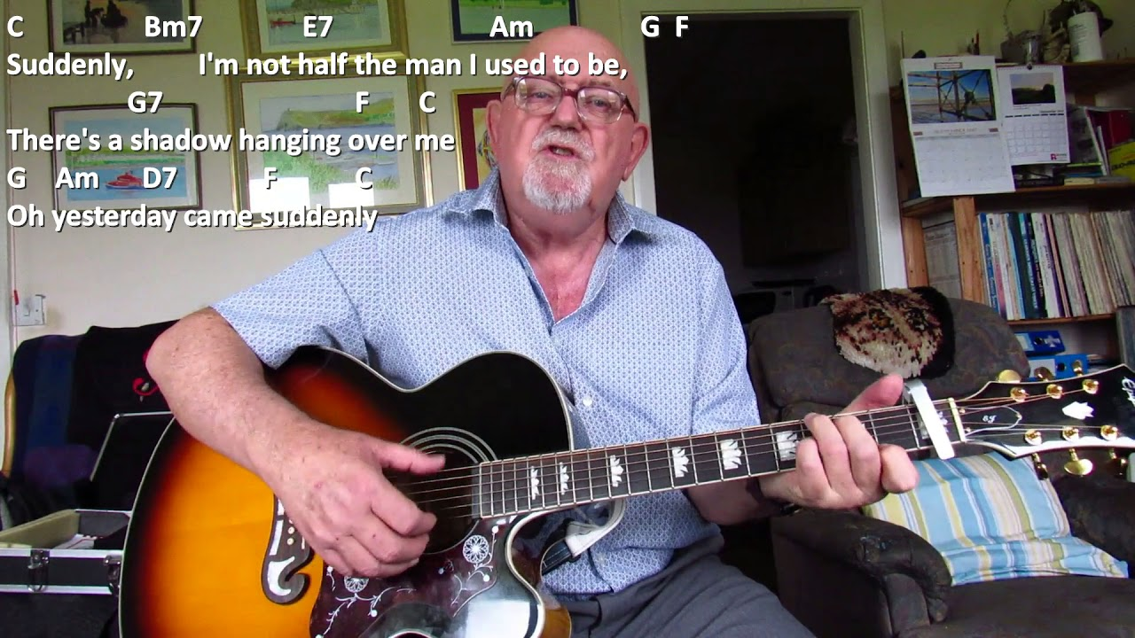Guitar Yesterday Including Lyrics And Chords Youtube