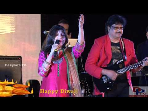 Alka Yagnik singing Aisi Deewangi Dekhi Nahi Kahin song at DFWICS Diwali Mela 2015 at Dallas.