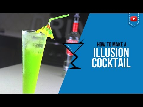 Midori Illusion Cocktail - How to make Midori Illusion Cocktail Recipe by Drink Lab (Popular)