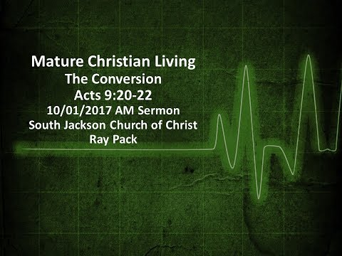 Mature Christian Living - Conversion