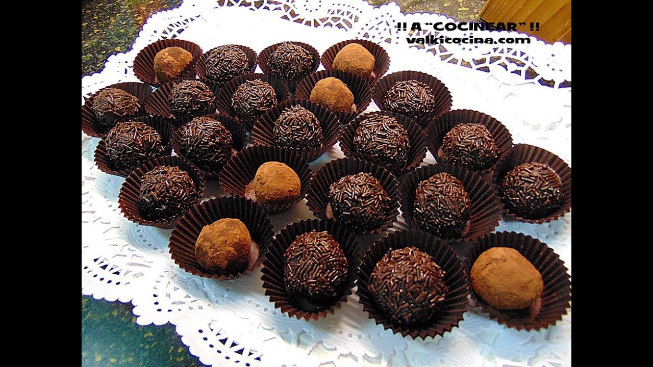 Trufas de chocolate y leche condensada youtube for Arroz con setas y trufa