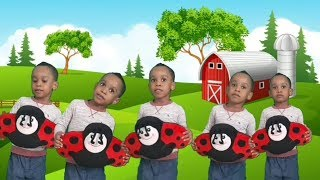 Five (5) Little Monkeys Jumping on the Bed Nursery Rhymes Kids Song.
