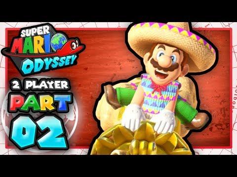Super Mario Odyssey Co-Op: Part 2 - Sand Kingdom! (2 Player)