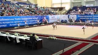 Показательное выступление Астаны на турнире Алии Юсуповой