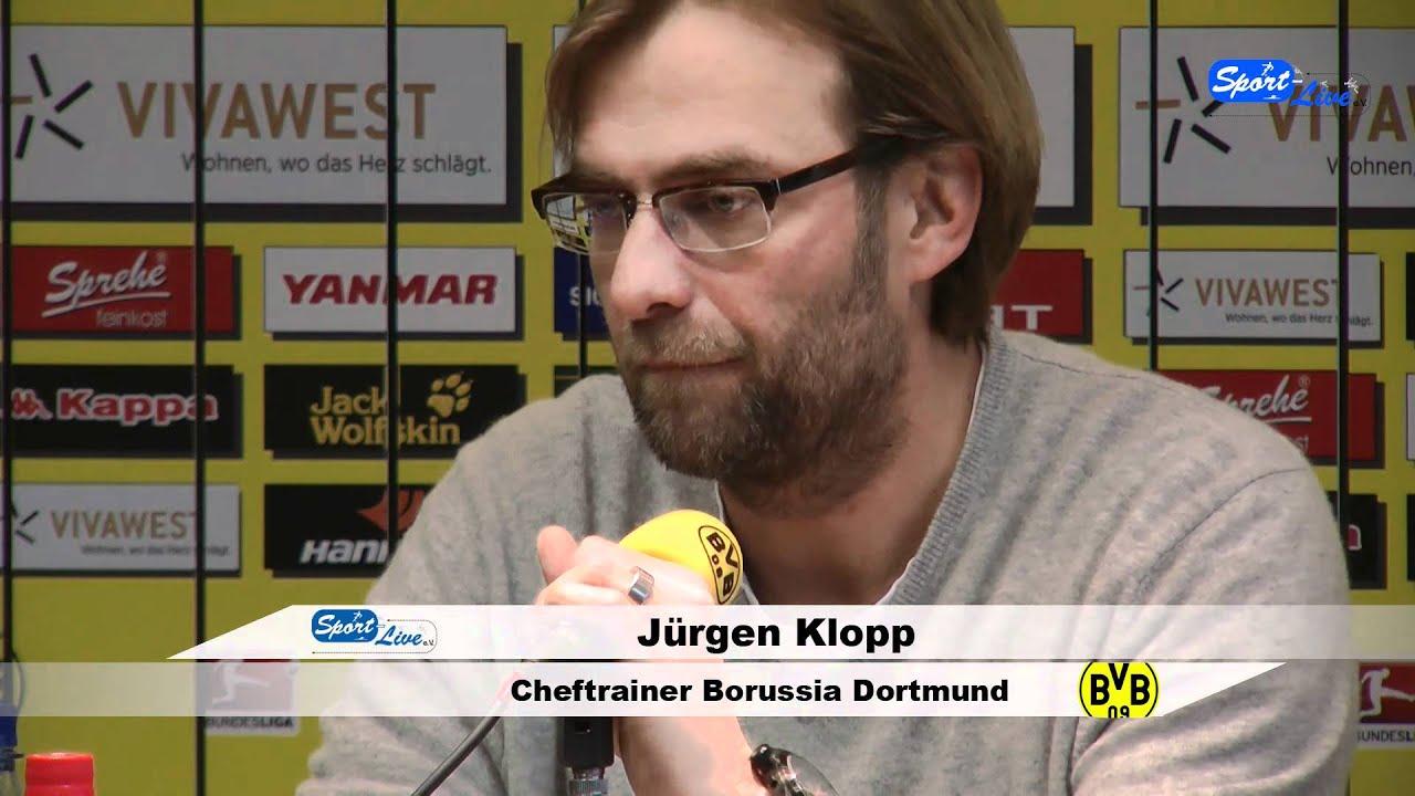 Borussia Dortmund - Bayer 04 Leverkusen Pressekonferenz 09.02.2012 Teil 1