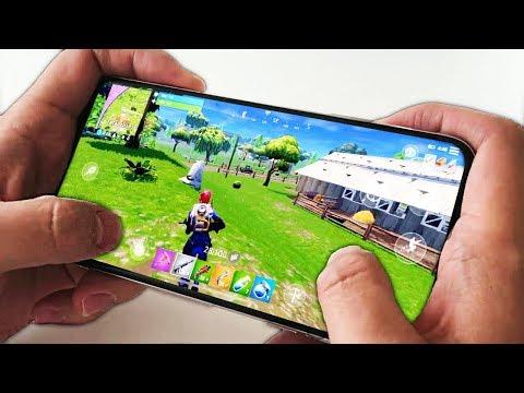 MA PREMIÈRE PARTIE sur FORTNITE Battle Royale MOBILE !! - (iPhone X)