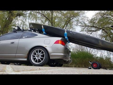 Loading a Kayak Solo with DIY Kayak Loader/Roller