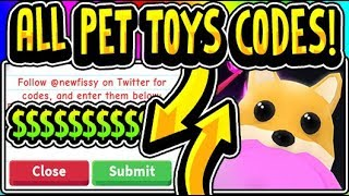 """🐶ALL ADOPT ME PET TOYS UPDATE CODES 2019!!"" Adopt Me 😱NEW NEON PETS & TOYS!😱 Update (Roblox)"