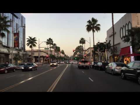 Driving Rodeo Drive Beverly Hills California USA