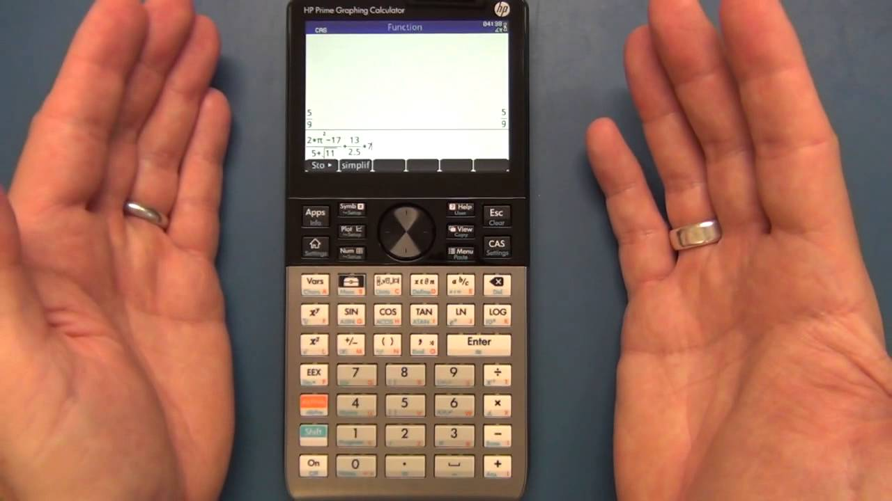 File:hp 27s scientific calculator, front, power on, end of.
