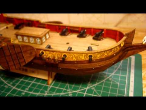 видео: Голландская яхта d'orо. Сборка модели. Часть 8.