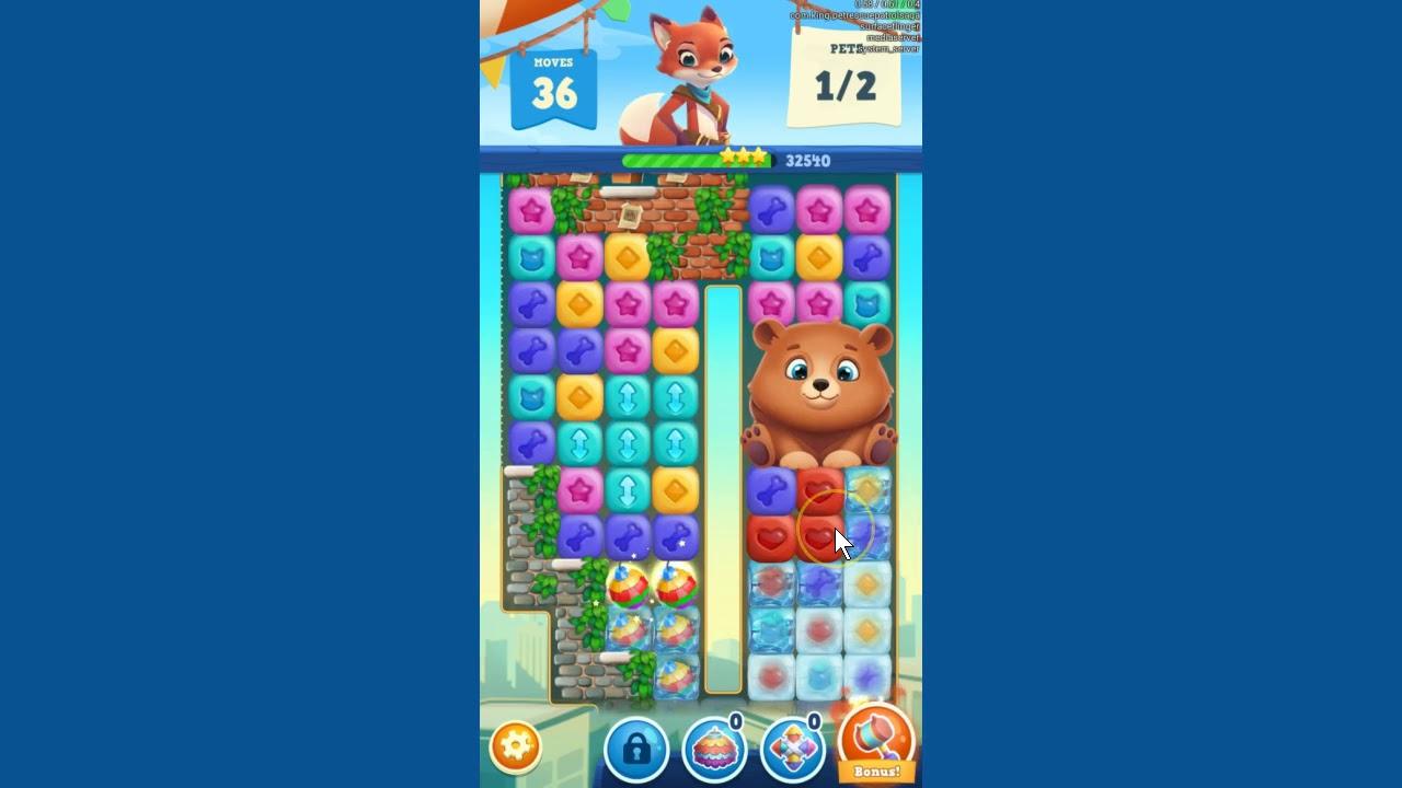 Pet Rescue Puzzle Saga Level 210 ~ no boosters LAST LEVEL March 2018