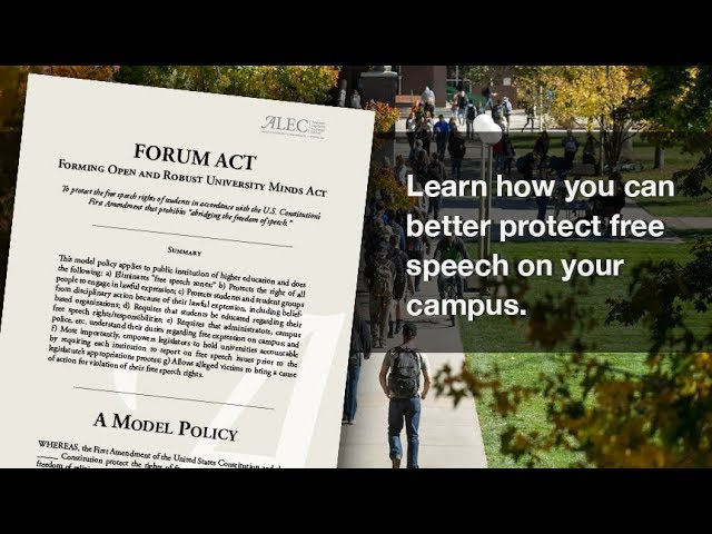 Forming Open and Robust University Minds (FORUM) Act - Associated Video