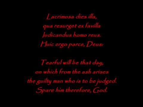 Dies Irae in Latin (English Translation)