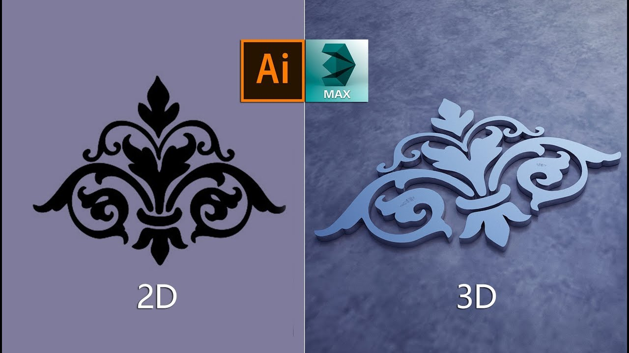 Convert 2d image to 3d model in 3ds max