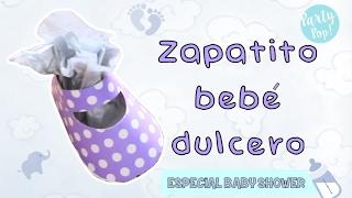 Zapatitos de bebe para baby shower con cartulina - facil de hacer - haz tus dulceros   Party pop!🎉