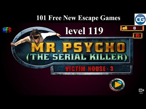 101 Free New Escape Games Level 119- Mr Psycho The Serial Killer VICTIM's HOUSE 3 - Complete Game