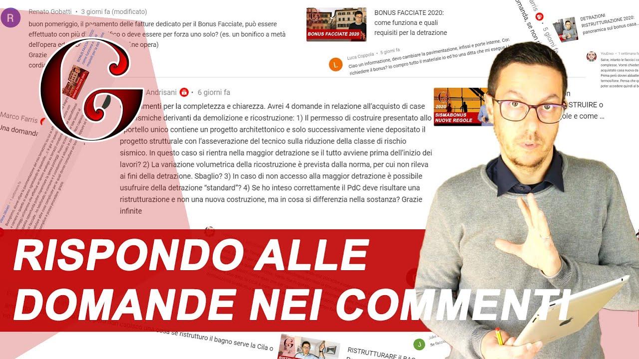 Sostituzione Porte Interne Detrazione rispondo alle domande nei commenti di youtube: faq - danilo