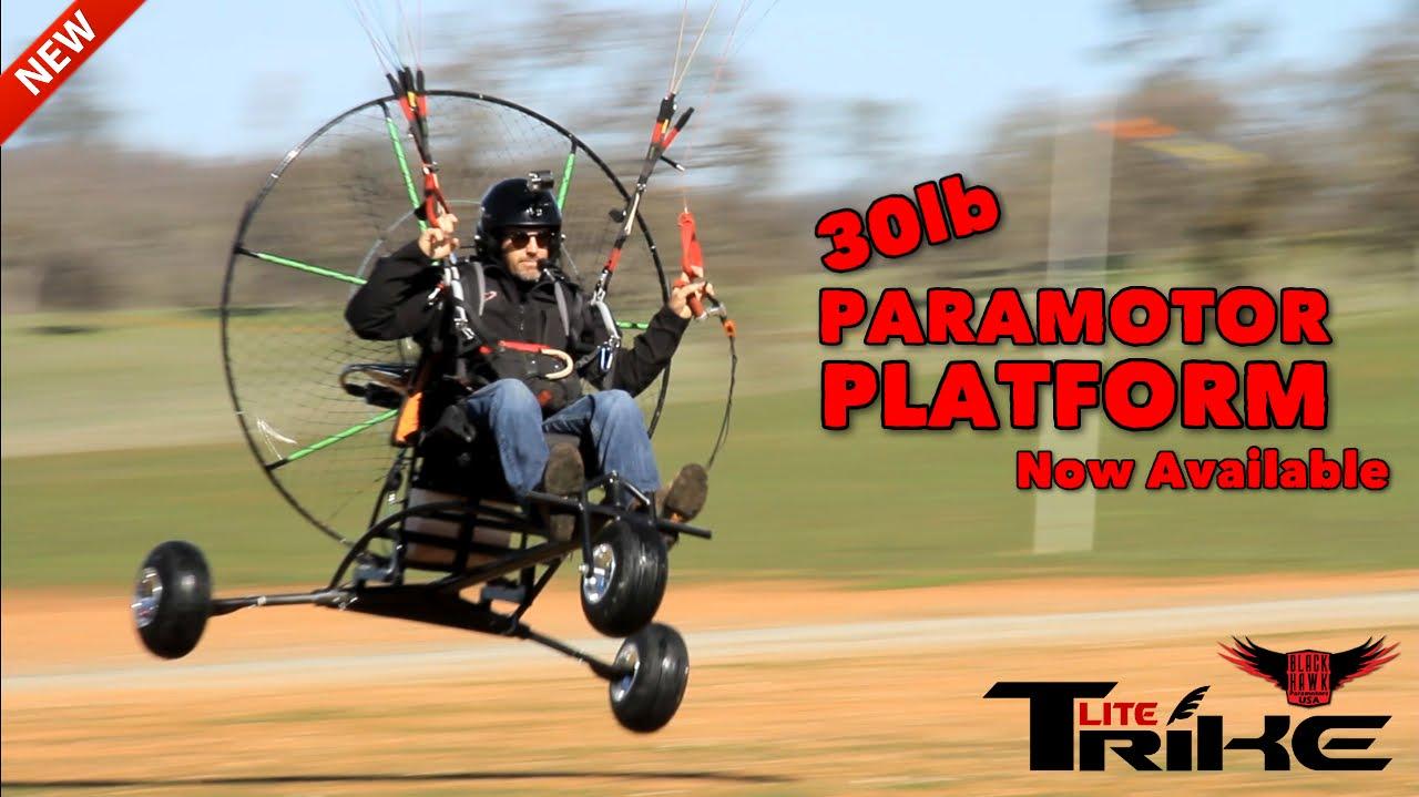BlackHawk Paramotor Announces NEW Lite Trike For Powered Paragliding!