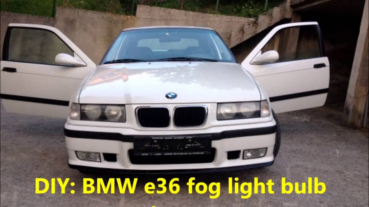 BMW e36 fog light replacement  YouTube
