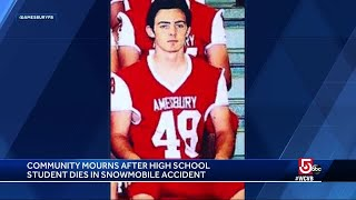 HS football star killed in snowmobile accident