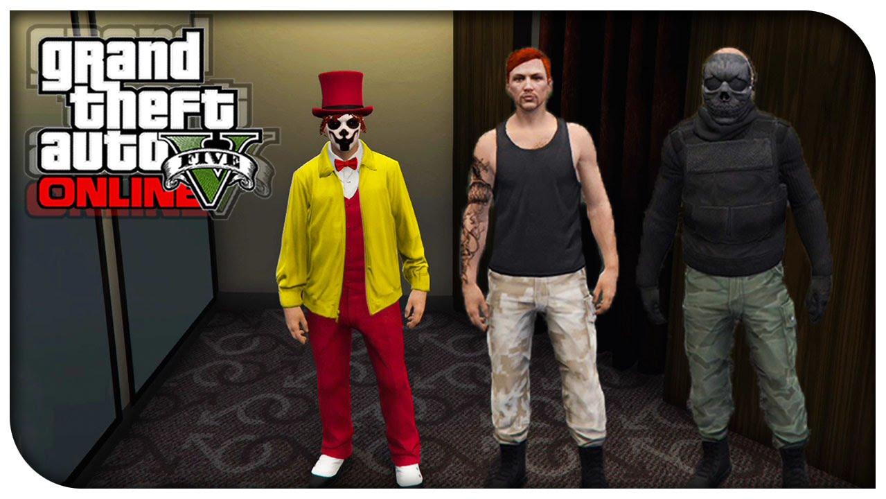 GTA 5 Online - FASHION FRIDAY! (The Clown Abraham from TWD u0026 Commando) [GTA V Cool Outifts ...