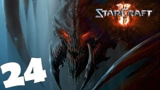 StarCraft 2 Heart of the Swarm Campaign Walkthrough Part 24 Gameplay Review Lets Play HD Hard PC.
