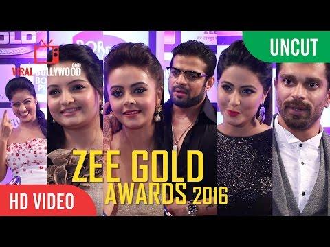 UNCUT - Zee Gold Awards 2016 | Karan Patel, Giaa Manek, Hina Khan, Karan Singh Grover And More...